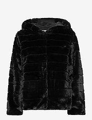 FREE/QUENT - FQFURBY-JA-HOOD - faux fur - black - 1