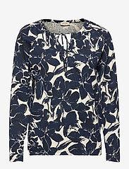 FREE/QUENT - FQBETINA-LS-TUA - tops met lange mouwen - navy blazer mix - 0