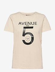 FREE/QUENT - FQANJA-TEE - t-shirts - birch mix - 0