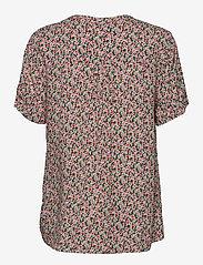 FREE/QUENT - FQADNEY-SS-BL-LUMI - blouses met korte mouwen - fresh salmon mix - 1