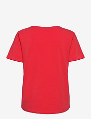 FREE/QUENT - FQGEAR-TEE - t-shirts - poppy red mix - 1