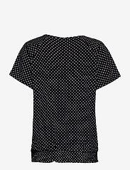 FREE/QUENT - FQBETINA-SS-SMOCKIE-DUTO - kortærmede bluser - black w. white - 1