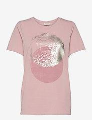 FREE/QUENT - FQNOLA-TEE - t-shirts - pale mauve mix - 0