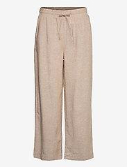 FREE/QUENT - FQLAVA-ANKLE-PA - bukser med brede ben - sand melange - 0