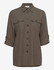 FREE/QUENT - FQLAVA-SH - langærmede skjorter - dusty olive - 2
