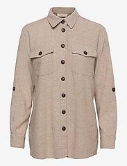 FREE/QUENT - FQLAVA-SH - langærmede skjorter - sand melange - 0