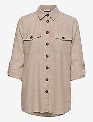 FREE/QUENT - FQLAVA-SH - langærmede skjorter - sand melange - 2
