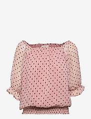 FREE/QUENT - FQLEVA-BL - langærmede bluser - silver pink w. black - 0