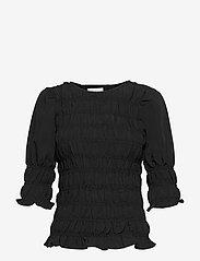FREE/QUENT - FQELOISE-BL - blouses met lange mouwen - black - 0