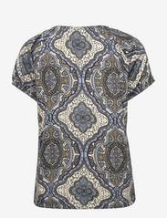 FREE/QUENT - FQBETINA-SS-NADY - t-shirts - chambray blue mix - 1