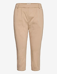 FREE/QUENT - FQHEGEN-CA-POCKET - pantalons capri - beige sand as cut - 0