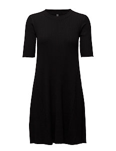 CLAUDISSE-DR-NEW-1/2 SLEEVE-07 - BLACK