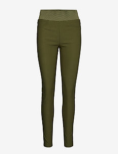 SHANTAL-PA-POWER - skinny leg hosen - olive night 19-0515