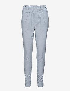 HEGEN-PA-PLAIN - spodnie rurki - med. grey melange