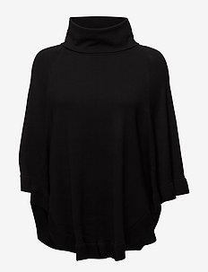 FQCLAUDISSE-CAPE-ROLL - ponchos & capes - black