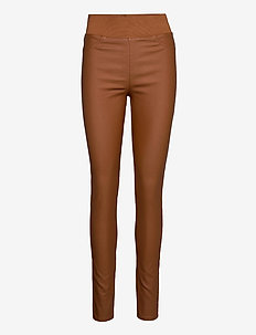 SHANTAL-PA-COOPER - bukser med smalle ben - caramel café 18-1148 tcx