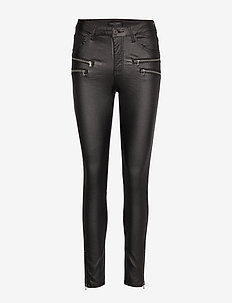 AIDA-PA-7/8-COOPER - trousers with skinny legs - black