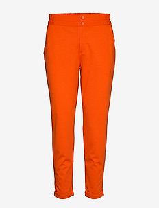 NANNI-ANKLE-PA - straight leg hosen - red orange 17-1464 tcx