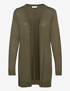ELINA-L-CAR - cardigans - olive night 19-0515