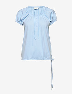 BETINA-SS-SOLID - t-shirts - chambray blue 15-4030 tcx
