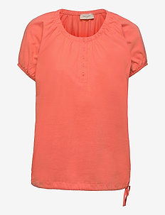 BETINA-SS-SOLID - t-shirts - fresh salmon