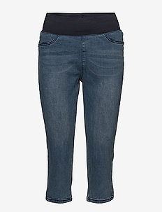 SHANTAL-CA-DENIM - pantalons capri - medium blue denim