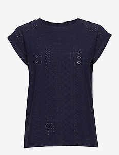FQBLOND-TEE - t-shirts - navy blazer 19-3923