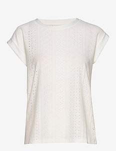 FQBLOND-TEE - t-shirts - offwhite 11-4800