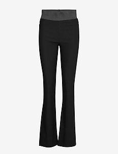 FQSHANTAL-PA-BOOTCUT-POWER - leveälahkeiset housut - black