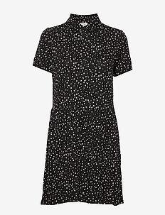 SPOT-DR-BUTTON - korta klänningar - black/off white mix