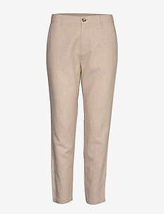 FQALVILLE-PA-ANKLE - straight leg trousers - sand
