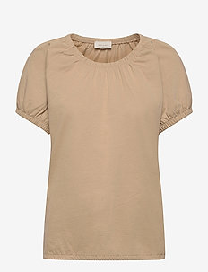 BETINA-O-SS-SOLID - t-shirts - beige sand as cut