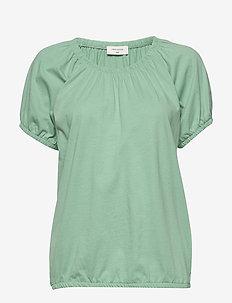 BETINA-O-SS-SOLID - basic t-shirts - feldspar 16-5815 tcx