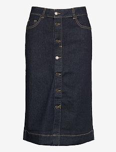 FQROCK-SK-YOKE - jeansowe spódnice - indigo blue denim - as sample