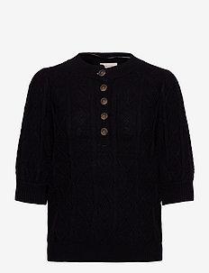 FQTINE-PU - strikkede topper og t-skjorter - black