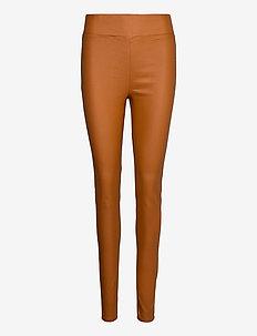 FQSHANNON-PA-COOPER - slim fit spodnie - caramel café 18-1148 tcx