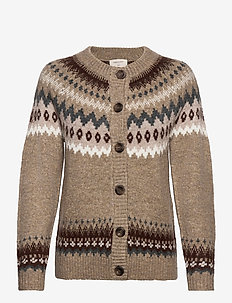 FQBERSA-CAR - christmas sweaters - beige as berla