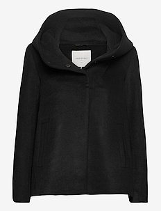 FQDICTE-S-JA-SOLID - wool jackets - black solid