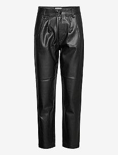 FQHARLEY-ANKLE-PA - spodnie skórzane - black