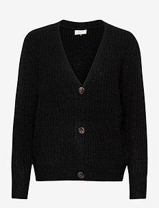 FQHILL-S-CAR-RIB - cardigans - black solid