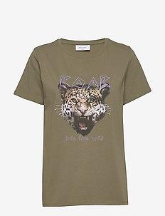 FQFOXY-TEE - t-skjorter med trykk - burnt olive