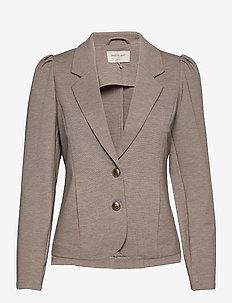FQDÉCOR-JA-PUFF - casual blazers - beige sand melange