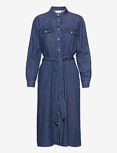 FQFIA-L-DR-PUFF - blousejurken - medium blue