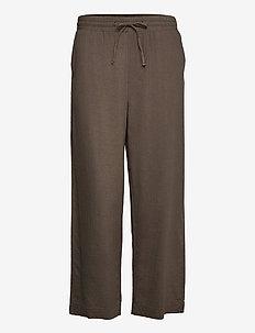 FQLAVA-ANKLE-PA - bukser med brede ben - dusty olive