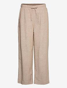 FQLAVA-ANKLE-PA - bukser med brede ben - sand melange