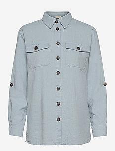 FQLAVA-SH - långärmade skjortor - chambray blue