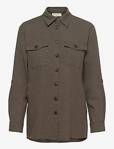 FQLAVA-SH - långärmade skjortor - dusty olive