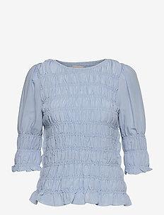 FQELOISE-BL - langærmede bluser - chambray blue