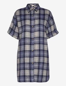 FQABELLE-SH-DR - chemises à manches courtes - navy blazer mix