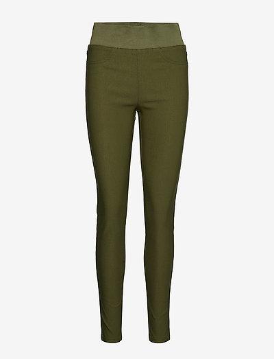 FQSHANTAL-PA-POWER - pantalons slim - olive night 19-0515